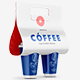 Coffee Cups with Holder Mockups – Half side View - GraphicRiver Item for Sale