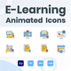 Animated Online Education Icons (GIF, Lottie, AEP, MP4) - VideoHive Item for Sale