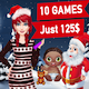 Top 10 Christmas Game + Special Discount + Ready For Publish - CodeCanyon Item for Sale
