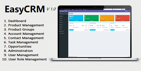EasyCRM - Awesome Powerful Open Source CRM