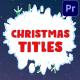 Christmas Titles | Premiere Pro MOGRT