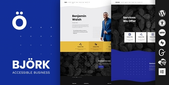 Björk - Accessible Portfolio WordPress Theme