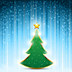 Christmas Pine Tree with Gold Star - GraphicRiver Item for Sale