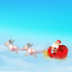 Santa Claus Sleigh with Reindeer - GraphicRiver Item for Sale
