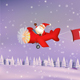 Santa Claus Flying with Ribbon Banner - GraphicRiver Item for Sale
