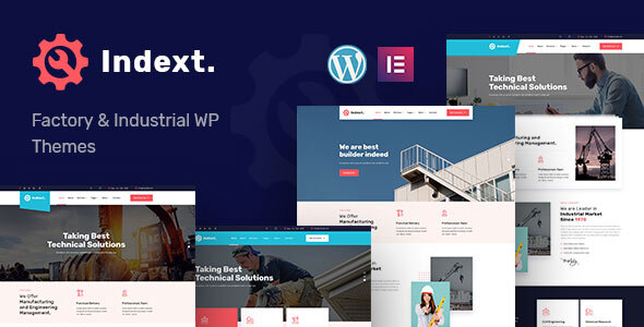 Indext – Industrial Business WordPress Theme