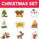 Christmas Sticker Set - GraphicRiver Item for Sale