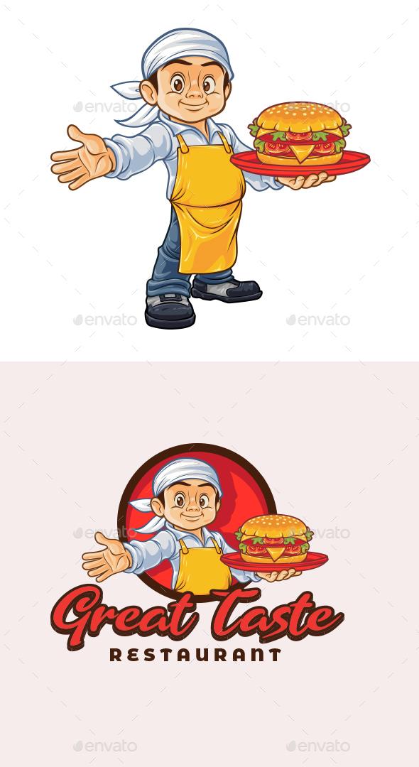 Chef Burger Character Mascot Logo Templates