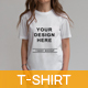 Woman With White T-shirt Mockups - GraphicRiver Item for Sale