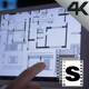 Architect Drawings On Tablet - VideoHive Item for Sale