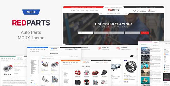 RedParts – Auto Parts eCommerce MODX Theme