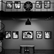 Black and White Photo Gallery in an Industrial style Loft at Night - VideoHive Item for Sale
