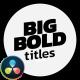 Modern Big Titles | DaVinci Resolve - VideoHive Item for Sale