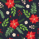 Floral Seamless Pattern with Winter Evergreen Plants - GraphicRiver Item for Sale