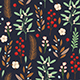 Decorative Winter Floral Seamless Pattern - GraphicRiver Item for Sale