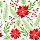 Pattern with Winter Evergreen Plants - GraphicRiver Item for Sale