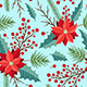 Seamless Pattern with Winter Evergreen Plants - GraphicRiver Item for Sale