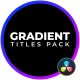 Gradient Titles - VideoHive Item for Sale