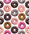 Set of assorted donuts, seamless pattern - PhotoDune Item for Sale