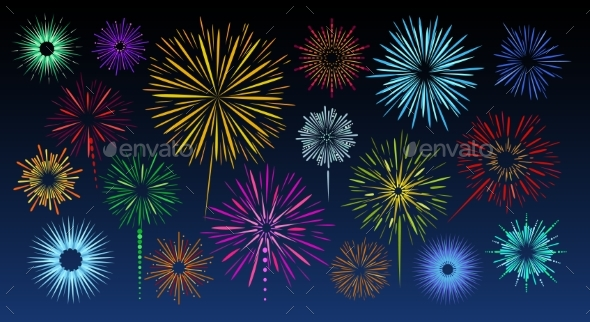 Celebration Fireworks Bursts
