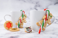 Gingerbread man cookies with candy cane - PhotoDune Item for Sale