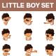 Little Boy Sticker Set - GraphicRiver Item for Sale