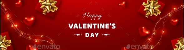 Valentines Day Horizontal Banner