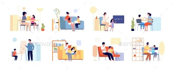 Parents Children Learning