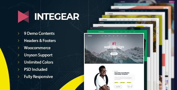 Integear - IT Company & Agency WordPress Theme