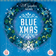 Electro Blue Christmas Photoshop Flyer Template - GraphicRiver Item for Sale