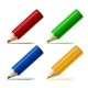 Set Different Colored Pencils Isolated White - GraphicRiver Item for Sale
