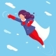 Modern Super Hero Flying Sky Character - GraphicRiver Item for Sale