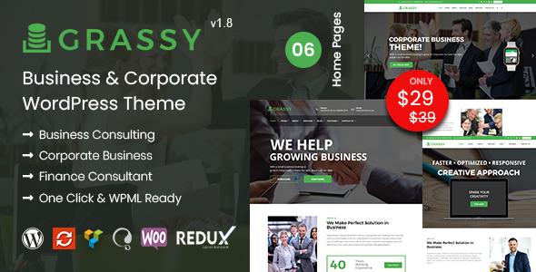 Review: Grassy - Business WordPress Theme free download Review: Grassy - Business WordPress Theme nulled Review: Grassy - Business WordPress Theme