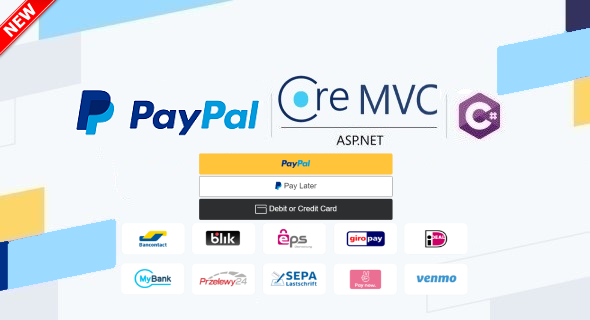 PayPal Checkout in ASP.NET Core MVC Web App & C#, Using Orders v2 REST API, Server-side Integration