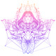 Asian Magic Woman with Sacred Geometry - GraphicRiver Item for Sale