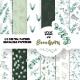 Watercolor Eucalyptus Digital Paper Clipart - GraphicRiver Item for Sale