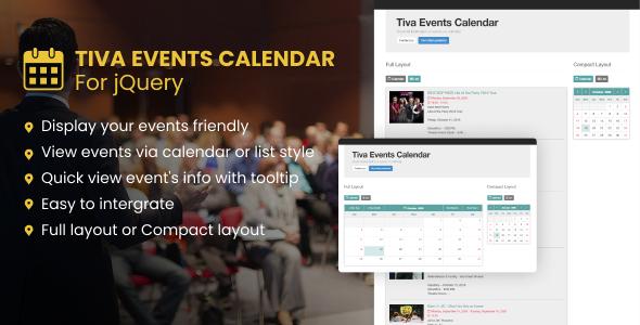 Tiva Events Calendar For jQuery