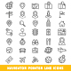 Navigator Pointer Line Icons - GraphicRiver Item for Sale