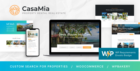 CasaMia | Property Rental Real Estate WordPress Theme