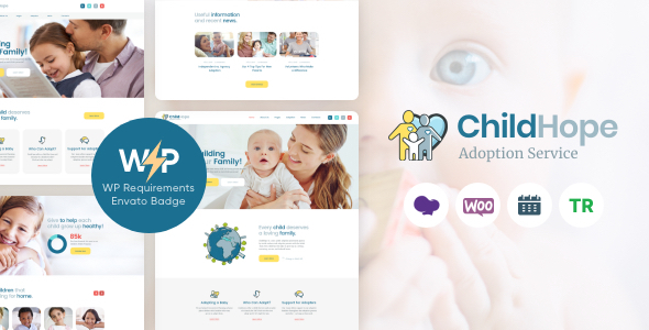 ChildHope | Child Adoption Service & Charity Nonprofit WordPress Theme