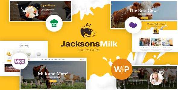 Dairy Farm & Eco Milk Products WordPress Theme