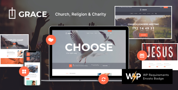 Grace - Church, Religion & Charity WordPress Theme