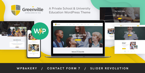 Greenville | A Private School & University Education WordPress Theme