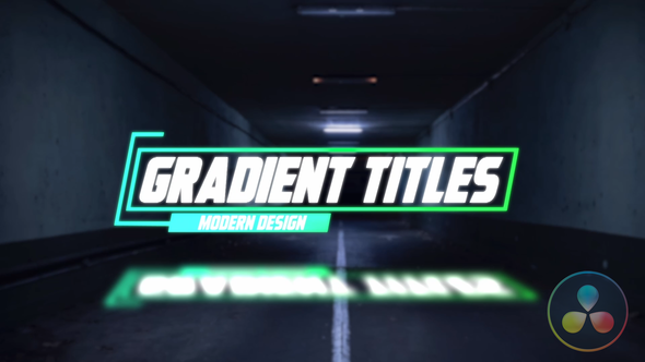 Glow Glitch Titles