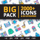 Big Pack 2000 Filled Colored icons - GraphicRiver Item for Sale