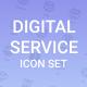 Digital Service Icon Set. - GraphicRiver Item for Sale
