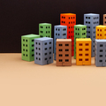 Abstract town houses on black beige background. - PhotoDune Item for Sale