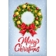 Postcard With Christmas Wreath and Big Red Bow - GraphicRiver Item for Sale