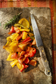 Oven-baked colored pepper cubes - PhotoDune Item for Sale