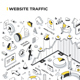 Website Traffic Isometric Illustration - GraphicRiver Item for Sale